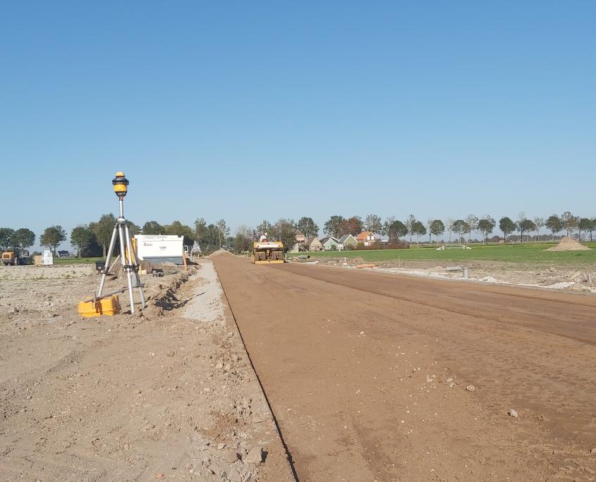 Kilveren zandbed voor straatwerk
